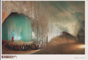 Here is a postcard purchased from the site. No cameras were allowed in the cave. Photo credit: Verlag Eisriesenwelt GmbH.