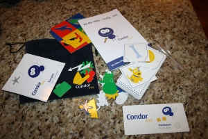 Activity sets given to children by Condor on the flight from Germany to the US.