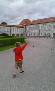 Heading to the Natural Science Museum in the Schloss Nymphenburg.