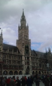 The Neues Rathaus in Marienplatz. Munich, Germany.