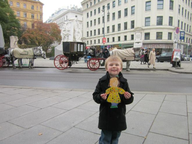 Sharing Vienna with other children via the Flat Stanley/Flat Sarah project.