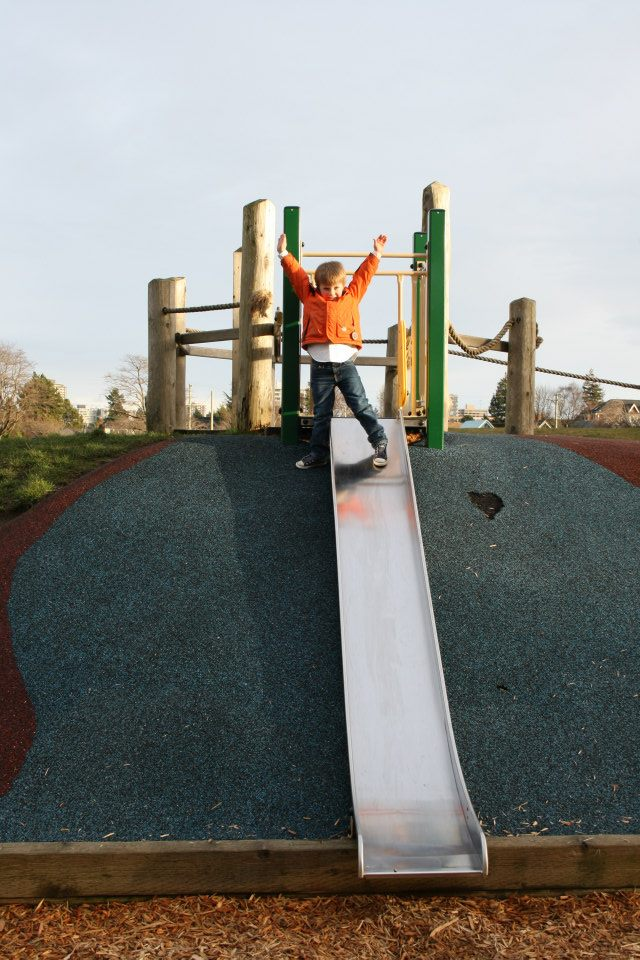 Big slide at Fisherman's Wharf Playground in Victoria, B.C.