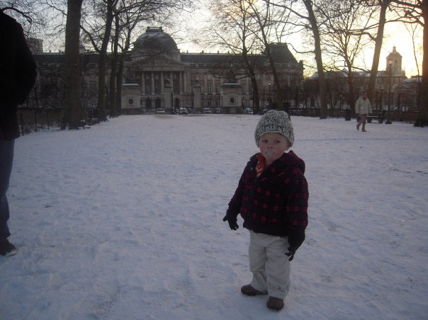 "In the ""Parc de Bruxelles"", in front of the Palace of Brussels."