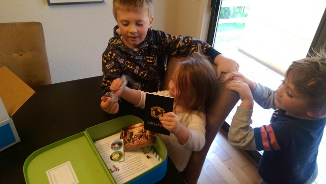 The kids were so excited to open their World Edition starter kit from Little Passports!