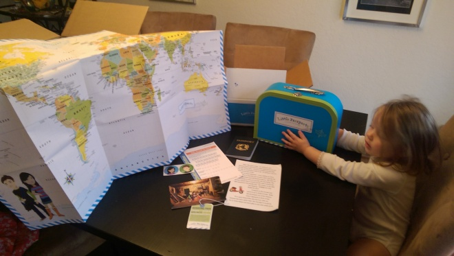 Little Passports' World Edition starter kit contents.