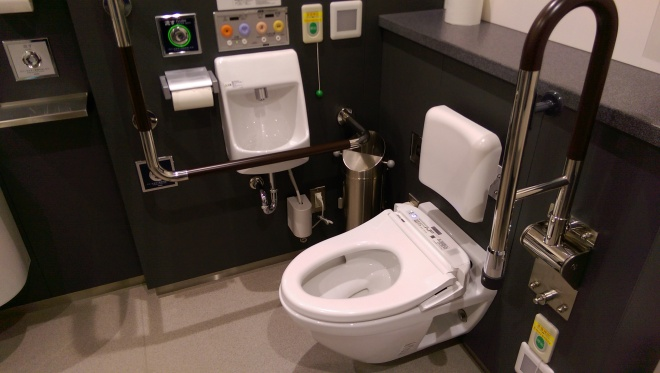 Japanese toilet at the airport.