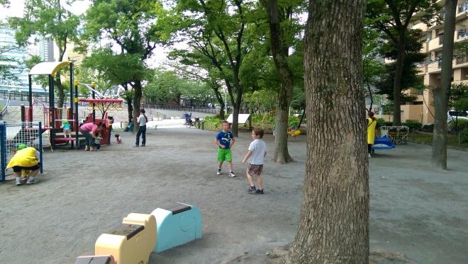 Playground in Kuritsu Sumida Park.