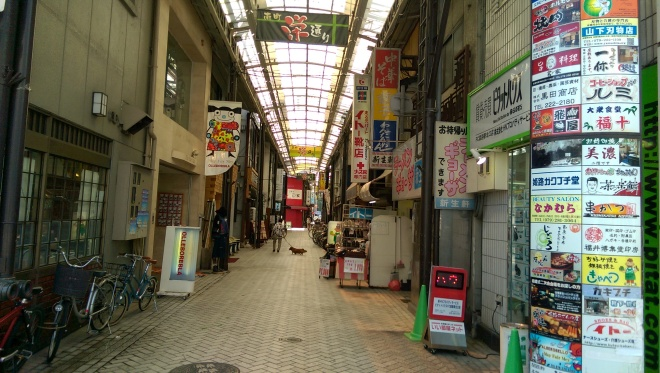 Shopping Arcades off the main road to Himeji Castle.