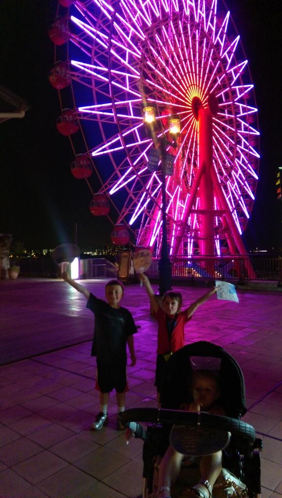 Ferris wheel at Kobe's Harborland.