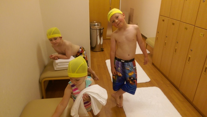 Swim caps required for the hotel pool!