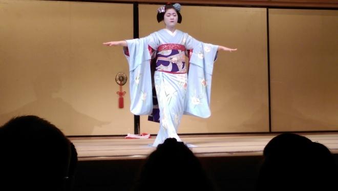 A Maiko dancing.  Gion Corner.