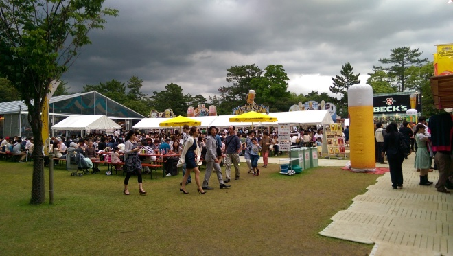 A visiting Oktoberfest in Japan, in June!