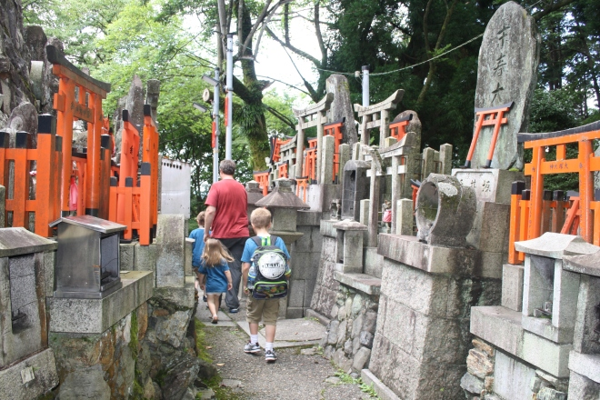 Seeing all that there was to see of the shrine at the top of Mt. Inari.